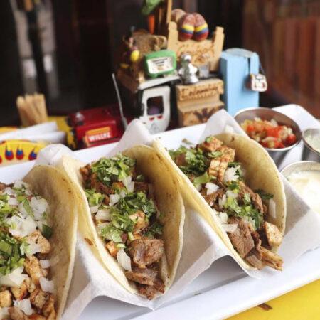Mini Tacos de Carne y Pollo